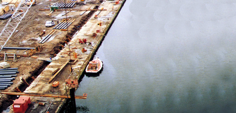 Royal Victoria Dock Wall Reconstruction