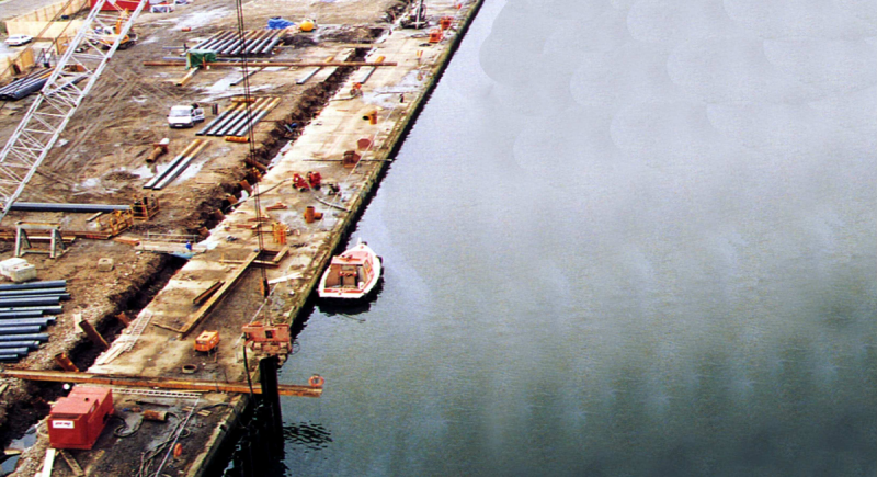 Royal Victoria Dock Wall Reconstruction