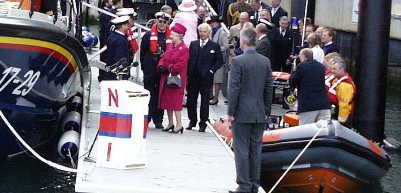 Queen Elizabeth II opens Falmouth Maritime Museum's berthing pontoon