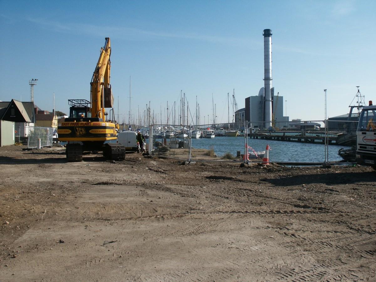 New Dock Walls at Shoreham