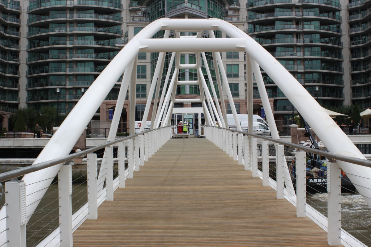 St George Wharf Pier, Vauxhall completed