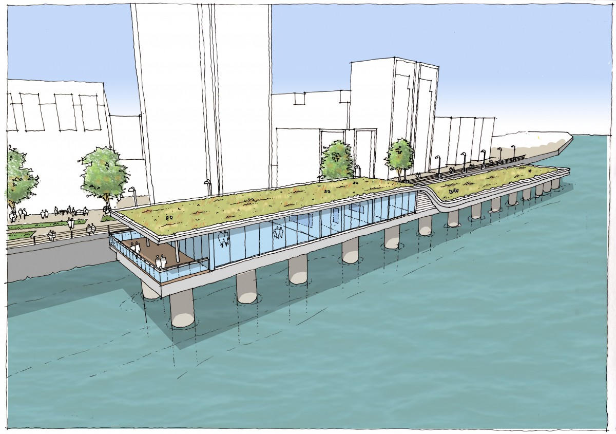 New eco jetty nears completion beckett rankine Wharf bathroom design centre