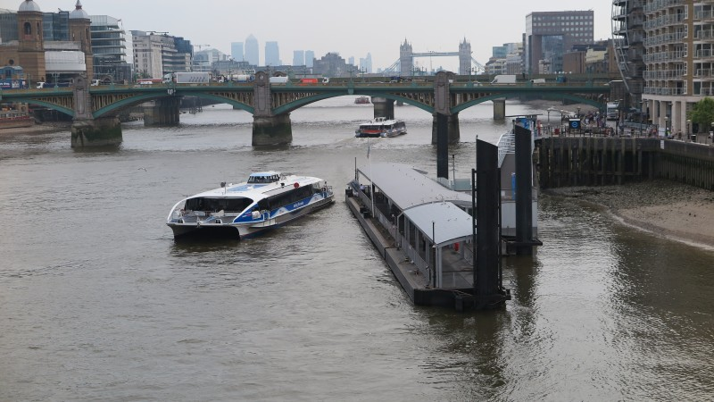 Bankside and Westminster piers extended