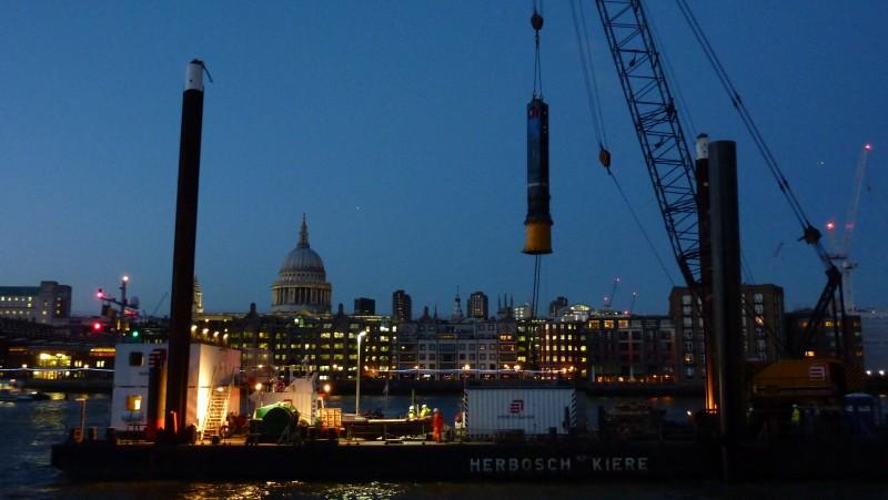 Bankside Pier Piling