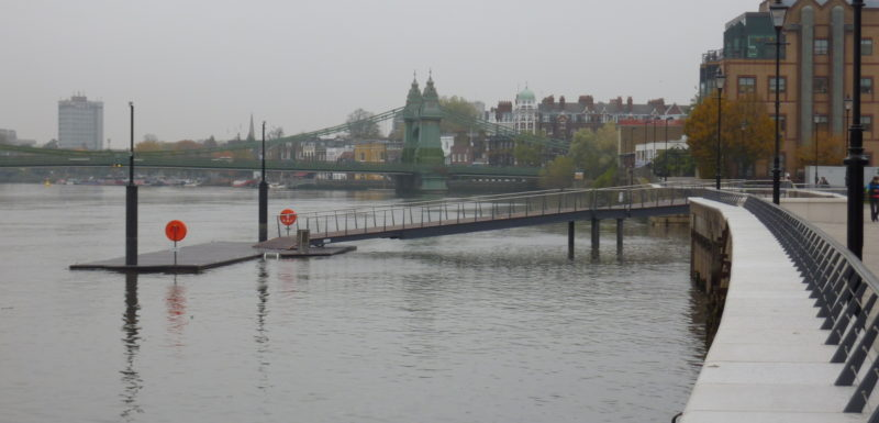 Fulham Rowing Pontoon