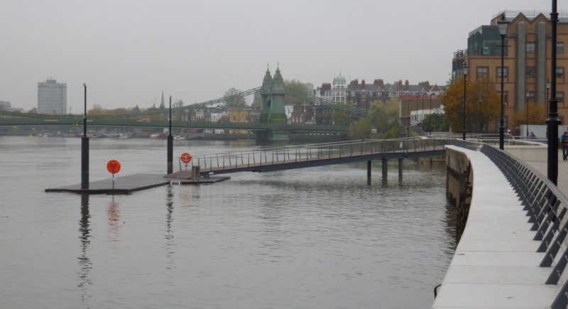 Fulham Rowing Pontoon