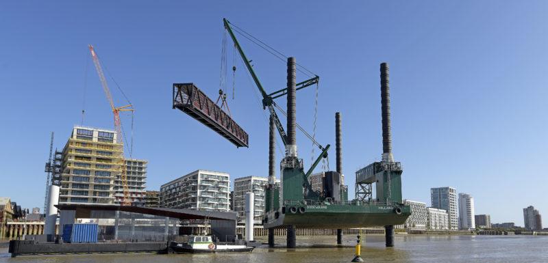 Royal Wharf Pier opens